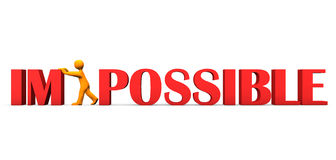 Motivation Im Possible Stock Images