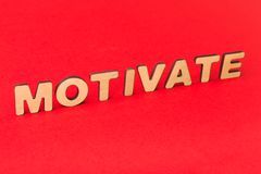 Motivation inscription on red background royalty free stock photography