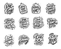 Free Motivation Lettering Phrases Mega Set. Hand Drawn Vector Illustration. Positive Inspirational Quotes. Royalty Free Stock Images - 167531149