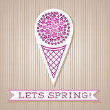 Motivation List Design With Floral Ice Cream Royalty Free Stock Photo
