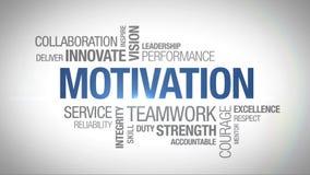 Motivation - livligt ordmoln royaltyfri illustrationer