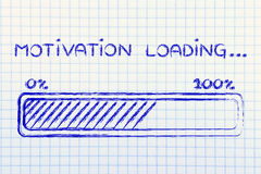Motivation loading, progess bar illustration Stock Photography