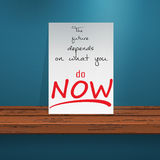 Motivation på desk2 royaltyfri illustrationer