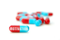 Motivation pill Stock Photo