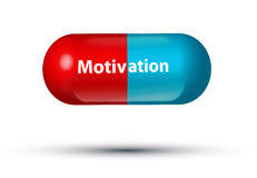 Motivation pill Royalty Free Stock Images
