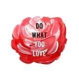 Motivation poster. Do what you love Vector illustration stock illustration