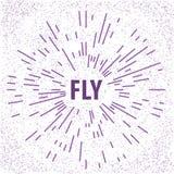 Motivation poster Fly. On dot background Stock Photo
