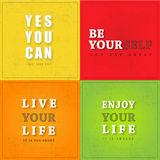 Motivation Poster Royalty Free Stock Photos