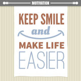 Motivation poster Stock Photography