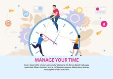 Free Motivation Poster With Manage Your Time Lettering Royalty Free Stock Image - 160702666