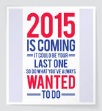 2015 motivation poster Stock Image