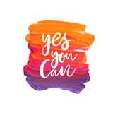 Motivation poster. Yes you can Abstract background vector illustration