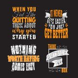 Motivation Quote and Saying Set for Graphic Goods, good for print. Motivation Quote and Saying Set for Graphic Goods vector illustration