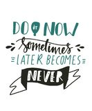 Motivation quote for your design stock illustration