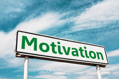 Motivation road sign Royalty Free Stock Images