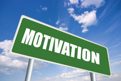 Motivation sign Stock Photo