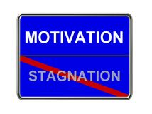 Motivation and stagnation sign Royalty Free Stock Photo