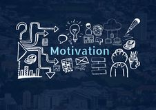 Motivation text with drawings graphics Royalty Free Stock Photo
