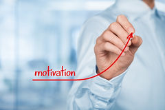 Motivation to growth. Businessman, consultant or human resources officer give you a motivation to growth (personal development Royalty Free Stock Images