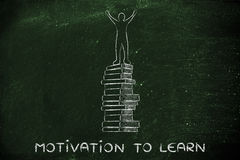 Motivation to learn, education and school achievements Royalty Free Stock Photo