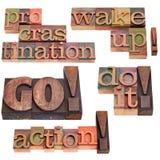 Motivation to overcome procrastination Stock Photos