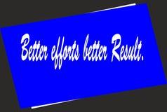 Motivation und bunter Entwurf zitieren besseres Ergebnis der besseren Bemühungen stock abbildung