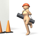 Motivation of women construction engineers. Stock Photography