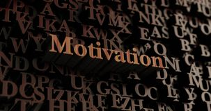 Motivation - Wooden 3D rendered letters/message Stock Photo