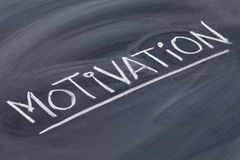 Motivation word on blackboard Royalty Free Stock Photo