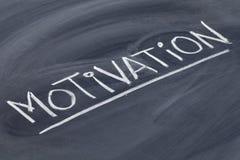 Motivation word on blackboard Royalty Free Stock Photo