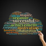 MOTIVATION word cloud, business concept Stock Photos