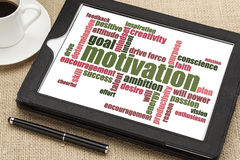 Motivation word cloud Royalty Free Stock Image