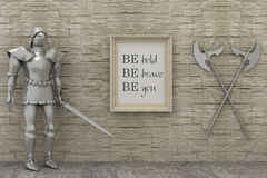 Motivation words be brave , be bold, be you.  Stock Photos