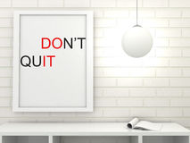 Motivation words  Do It, Don't Quit, inspiration quote. Stock Photos