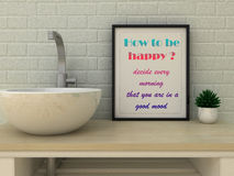 Motivation words how to be happy decide every morning that you are in a good mood . Self development,  Change, Life, Happiness con Royalty Free Stock Image