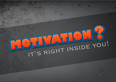 Motivation is in you Stock Photography