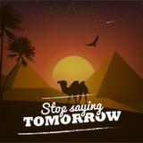 Motivational affisch med naturbakgrund Arkivfoto