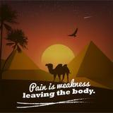 Motivational affisch med naturbakgrund Royaltyfri Fotografi