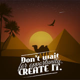 Motivational affisch med naturbakgrund Arkivfoton