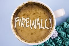 Motivational appell för begreppsmässig Firewall för handhandstilvisning Affärsfotoet som ställer ut Malware skydd, förhindrar int arkivfoton