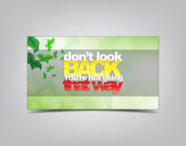 Motivational Background. Don't look back, You're not going that way. Motivational background. Typography poster stock illustration