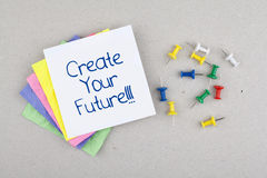 Motivational Business Phrase / Create Your Future Stock Images
