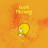 Motivational card with Sun saying good morning Royalty Free Stock Photos