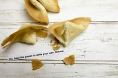 Motivational fortune cookie on empowerment Royalty Free Stock Photos