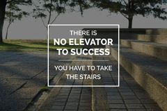 Stairs in a park image with quote. Motivational and inspirational business quote. Stairs in a park image with quote royalty free stock image