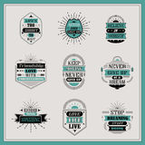 Motivational and inspirational quotes set Royalty Free Stock Photo