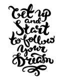 Motivational lettering poster Stock Images