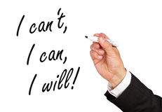 Motivational message Royalty Free Stock Photography