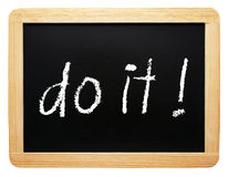 Motivational message ' do it ' ! Royalty Free Stock Photo