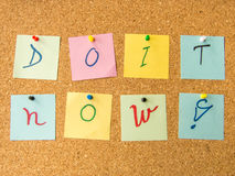 Motivational message do it now with exclamation mark Royalty Free Stock Photos